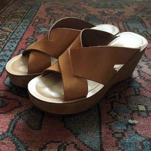 KorkEase cris cross slide platform sandal 6